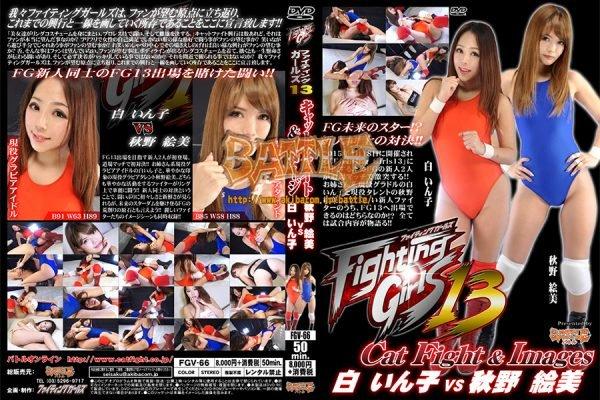 FGV-66 Fighting Girls 13 Cat Fight & Image Inko Haku vs Emi Akino